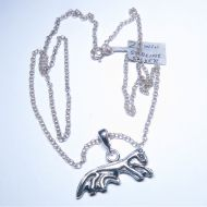 Sterling silver Uffington horse pendant and chain