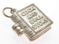 9ct Gold Cock and Bull Book Charm