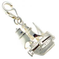 Boat Mayflower Sailing Ship Sterling Silver Charm