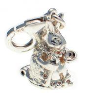 Rabbit Flopsy Sterling Silver Charm