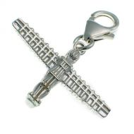 Angel of the North Sterling Silver Charm