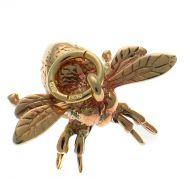9ct Gold Bee Charm Pendant