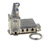 Church with Steeple Silver Charm