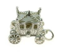 Carriage Coach Sterling Silver Charm