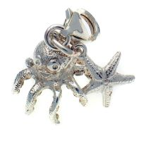 Octopus & Starfish, Sterling Silver Charm