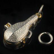 Violin Case Gangster Sterling Silver Charm